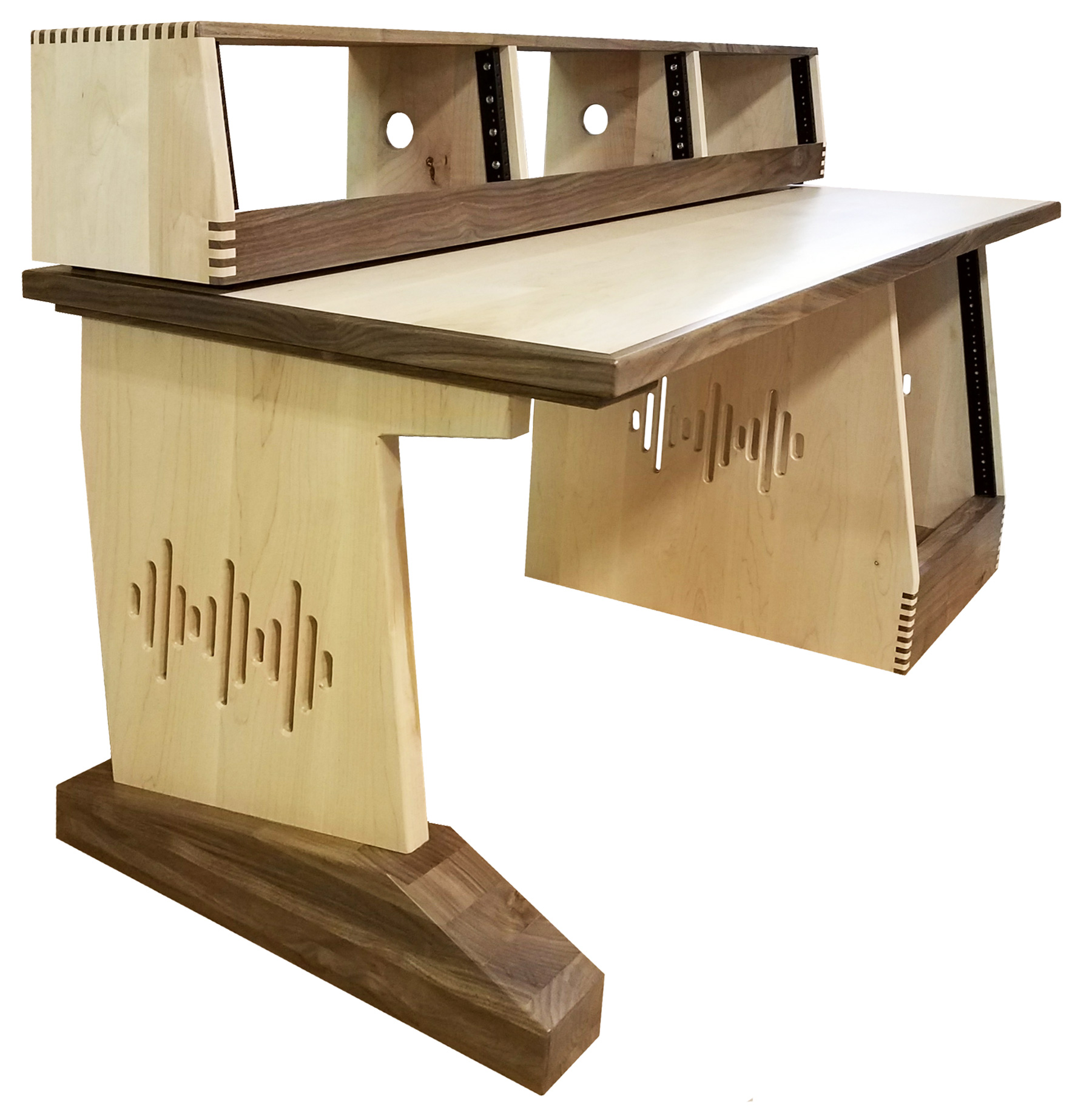 Home S Modular Studio Desks Pre Configured Desk Designs Audiorax Design E 30 Deep X 60 Wide Solid Maple And Walnut