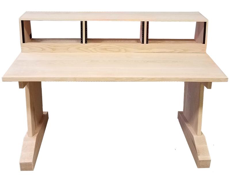 Home S Modular Studio Desks Pre Configured Desk Designs Audiorax Design F 30 Deep X 61 Wide Solid Wood Legs Triple Bay