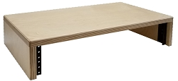 AudioRax | Baltic Birch 13-Ply Computer Monitor Stand with 2U Rack Rails, Multiple Colors