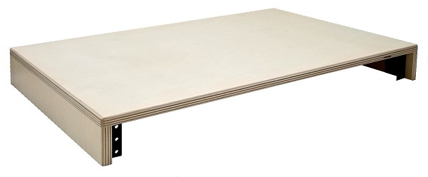 Baltic Birch 9-Ply Lightweight Monitor Stand with Rack Rails | 1 Space (1U)