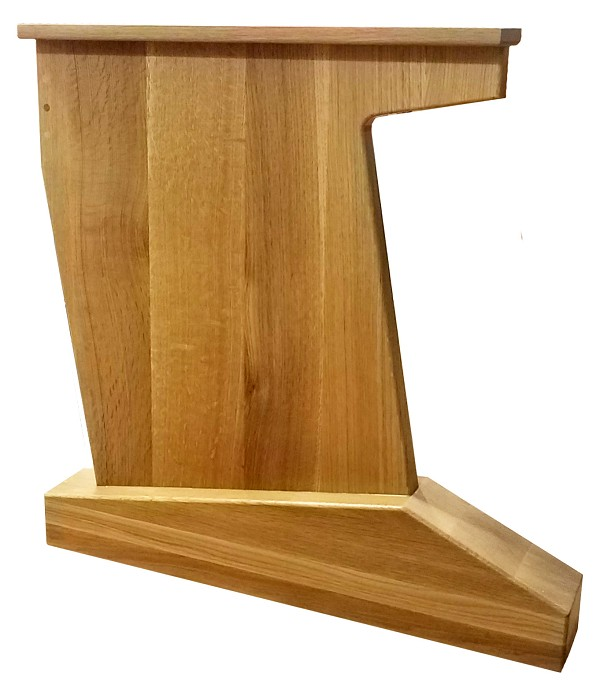 "AudioRax Solid Wood Desk End Panel Leg | 28"" Deep"