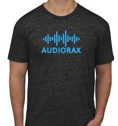 AudioRax Logo T-Shirt, Black (Made In Idaho on Back)