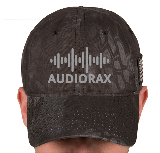 AudioRax Embroidered Logo Kryptek Camo Hat