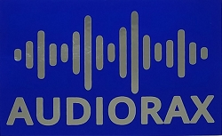 AudioRax Sticker, Silver and Blue