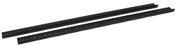 AudioRax Rack Rail Pair | 16 Space (16U) | 1/2RU Spacing