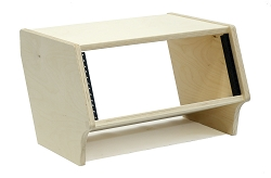 4 Space (4U) | Baltic Birch Angled Desktop Rackpod Turret Flat Top Studio Equipment Rack