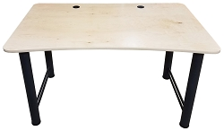 Music Studio Production Desk 48 | Maple with Black Metal Legs