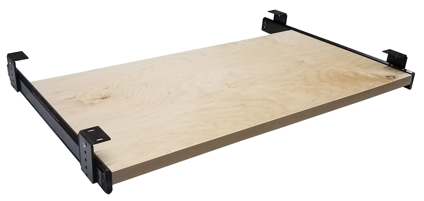 Maple Sliding Computer Keyboard Tray