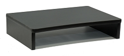 Black Computer Monitor or Laptop Stand Riser