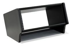 4 Space (4U) | Black Angled Desktop Rack Pod Turret