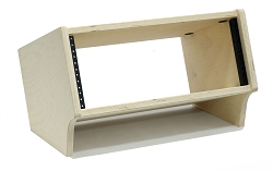 4 Space (4U) | Baltic Birch Angled Desktop Rackpod Turret Studio Equipment Rack