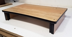 Cherry Plywood Computer Monitor Stand with 2U Rack Rails