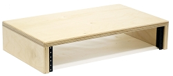Baltic Birch Computer Monitor Stand with Rack Rails | 1U, 2U, 3U, 4U, 5U, 6U