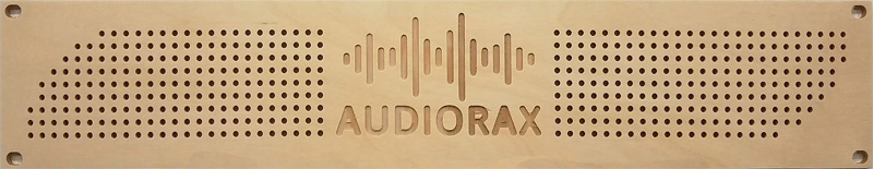 AudioRax | Baltic Birch Plywood Rack Panel Vented with Logo | 2 Space (2U)