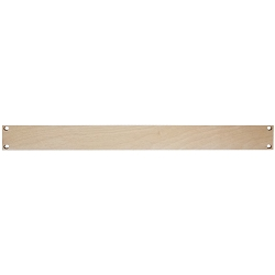 AudioRax | Hardwood Plywood Rack Panel Blank | 1U, 2U, 3U, 4U