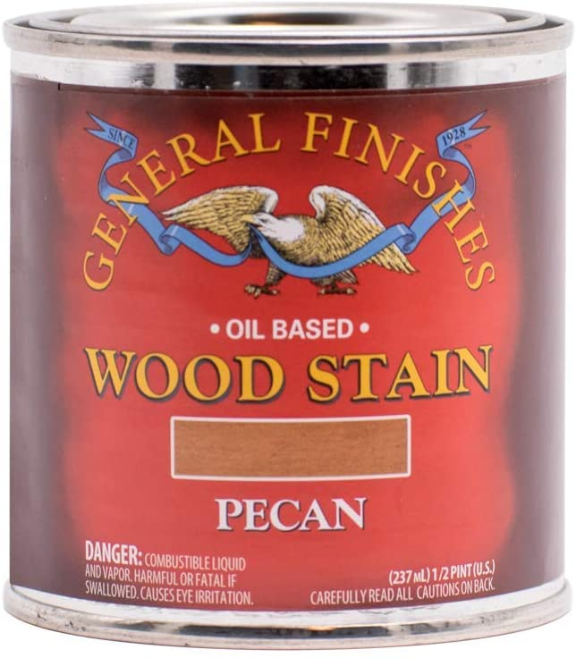 Oil Based Wood Stain, 1/2 Pint, Pecan