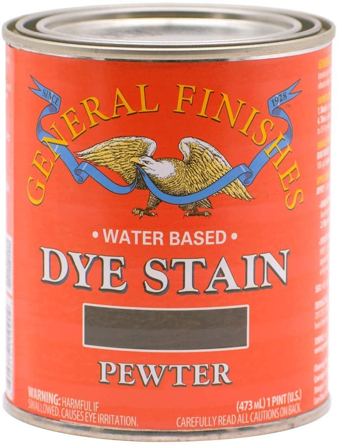 Water Based Dye Stain, 1 Pint, Pewter
