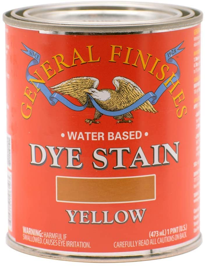 Water Based Dye Stain, 1 Pint, Yellow