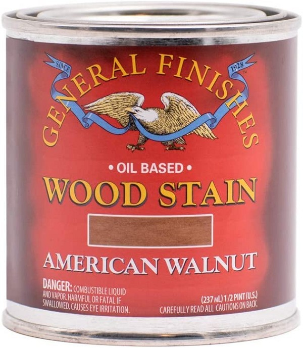 Oil Based Wood Stain, 1/2 Pint, American Walnut