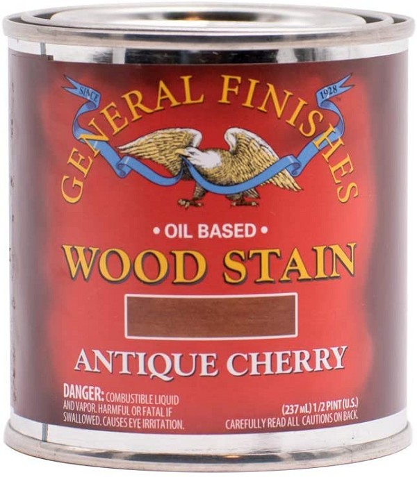 Oil Based Wood Stain, 1/2 Pint, Antique Cherry