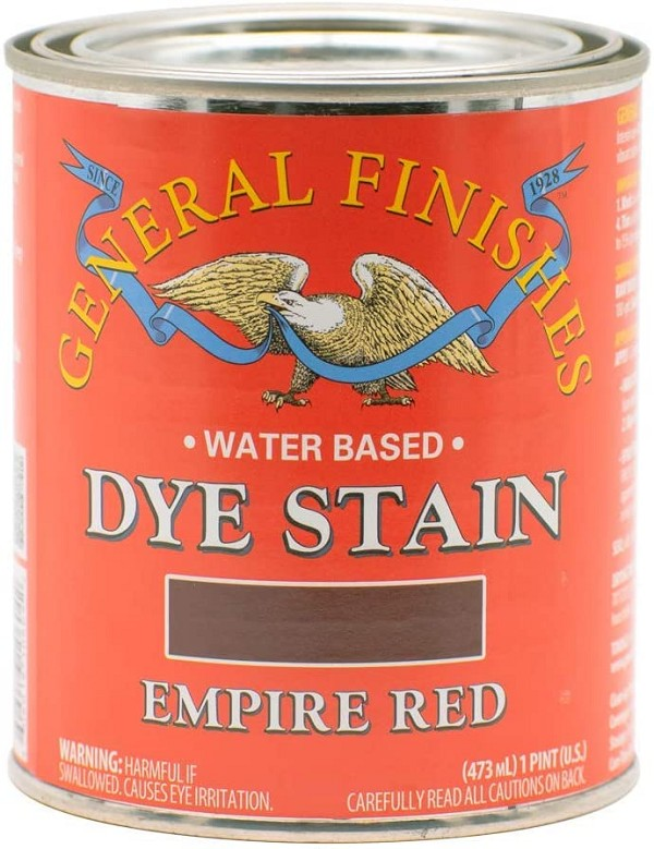 Water Based Dye Stain, 1 Pint, Empire Red